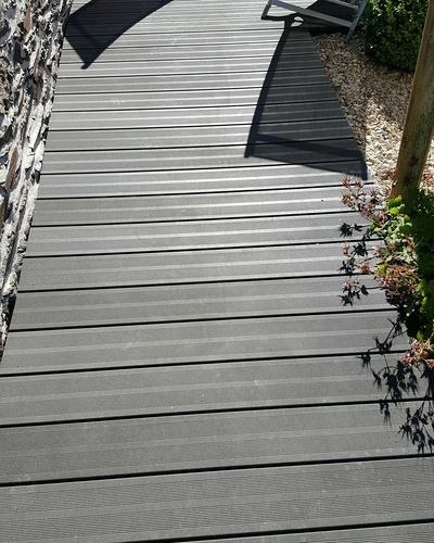 Lavage terrasse bois composite